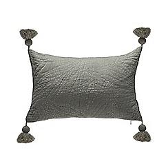 Debenhams - Pale Green Velvet Tassel Cushion