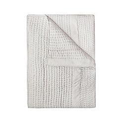J by Jasper Conran - Grey silk bedspread