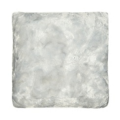 RJR.John Rocha - Light blue faux fur cushion