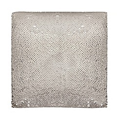 Star by Julien Macdonald - Silver 'Selena' sequin cushion