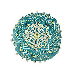 Butterfly Home by Matthew Williamson - Green beaded embellished cushion