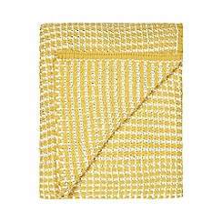 Home Collection - Yellow knitted throw
