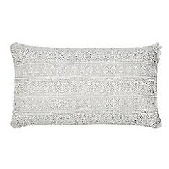 RJR.John Rocha - Grey crochet cushion