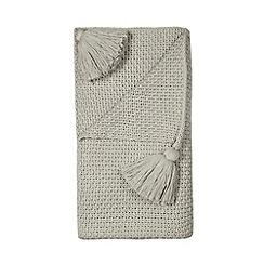 RJR.John Rocha - Grey knit throw
