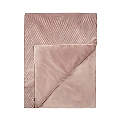 Star by Julien Macdonald - Pink velvet diamante throw