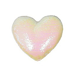 bluezoo - Pink sequin heart cushion