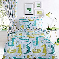 bluezoo - Multicoloured 'Crocodile' bedding set
