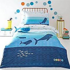 Baker by Ted Baker - Blue 'Whales' bedding set