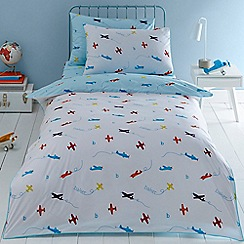 Baker by Ted Baker - Blue 'Planes' bedding set