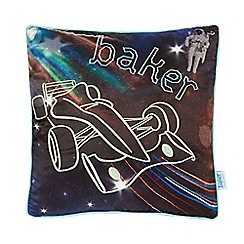 Baker by Ted Baker - Multi-coloured car print glow-in-the-dark cushion