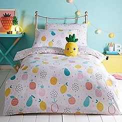 bluezoo - Multicoloured 'Fruit' bedding set