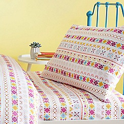 bluezoo - Multicoloured 'Llamas' fitted sheet set