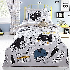 bluezoo - Multicoloured 'Superheroes' bedding set