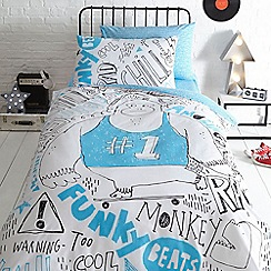 bluezoo - Multicoloured 'Funky beats' bedding set