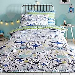 bluezoo - Blue 'Sharks' bedding set