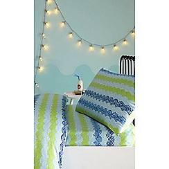 bluezoo - Blue 'Sharks' fitted sheet set