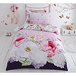 Baker by Ted Baker - Multicoloured 'Peony rabbit' bedding set