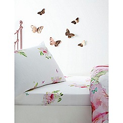 Baker by Ted Baker - Multicoloured 'Peony rabbit' fitted sheet set