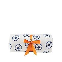 bluezoo - White football print fleece throw