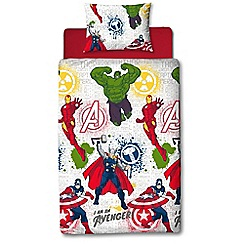 Character World Kids - Multicoloured 'Marvel Avengers' bedding set
