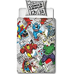 Character World Kids - Multicoloured 'Marvel Comics' bedding set