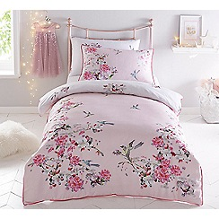 Baker by Ted Baker - Pink 'Flight of the orient' duvet cover set