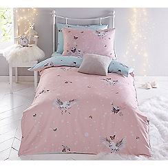 Baker by Ted Baker - Multicoloured 'Enchanted dream unicorn' duvet cover set