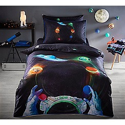 Baker by Ted Baker - Multicoloured 'Astronaut' duvet cover set