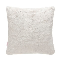 Baker by Ted Baker - Grey faux fur feather filled cushion