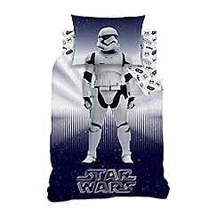 Star Wars - Kid's Multi-Coloured 'Storm Trooper' Star Wars Print Duvet Cover and Pillow Case Set