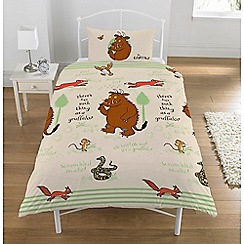 Gruffalo - Kid's Multi-Coloured 'Woodland Scene' Gruffalo Print Duvet Cover and Pillow Case Set