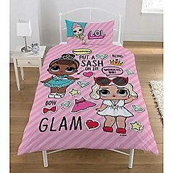 LOL Surprise - Kid's Multi-Coloured 'Opposites' L.O.L Surprise Print Duvet Cover and Pillow Case Set