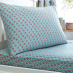 MW by Matthew Williamson - Kids' blue 'Elephant Pride' fitted sheet and pillow case set