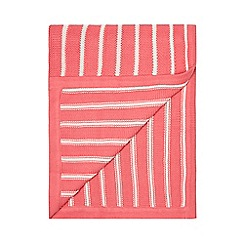J by Jasper Conran - Girls' pink striped knitted throw