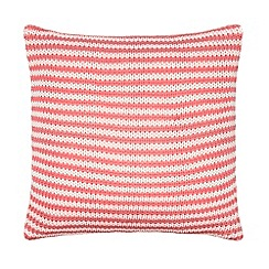 J by Jasper Conran - Pink striped knitted cushion