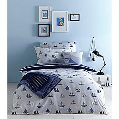 J by Jasper Conran Kids - Blue 'Boats' print bedding set