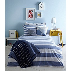 J by Jasper Conran Kids - Blue 'Chambray' stripe bedding set