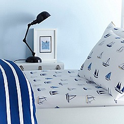J by Jasper Conran Kids - Blue 'Boats' fitted sheet set