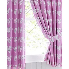 bluezoo - Girls' pink heart print curtains