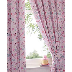 bluezoo - Girl's pink 'Little Owl and Friends' curtains