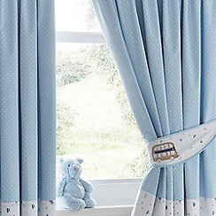 bluezoo - Blue vehicle print curtains