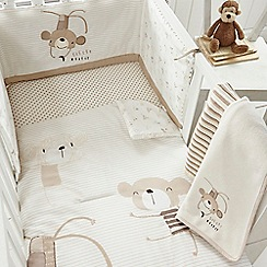 bluezoo - Kids' white monkey print bed in a bag
