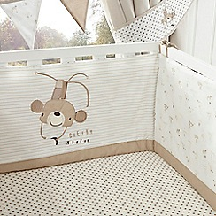 bluezoo - Kids' beige 'Cheeky Monkey' cot bed bumper