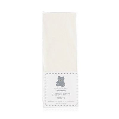 Bluezoo   White Fitted Sheet by Bluezoo