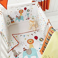 bluezoo - Kids' white circus print bed in a bag