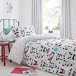 bluezoo - Kids' white 'Pandas' duvet cover and pillow case set