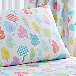 bluezoo - Kids' white 'Trees' fitted sheet and pillow case set