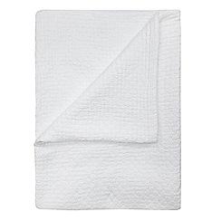 J by Jasper Conran - White textured cotton bedspread