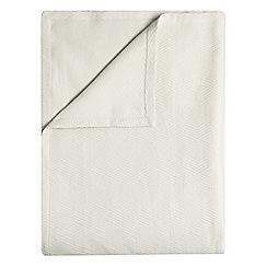 J by Jasper Conran - Grey cotton herringbone bedspread
