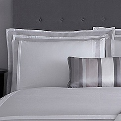J by Jasper Conran - Grey 'Langham' Oxford pillow case pair